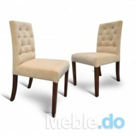 Krzesło Wąskie Niskie Pikowane