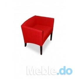 Czerwony fotelik skośny 65