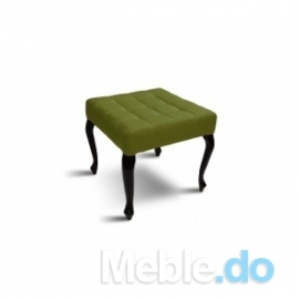 Zielona pufa pikowana 50x50