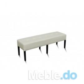 Białą pufa pikowane siedzisko