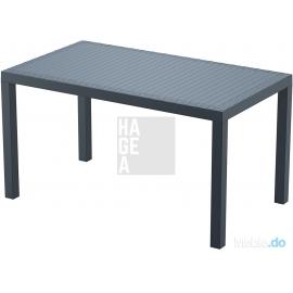Klasyczny zestaw ogrodowy 6 krzeseł Artemis + stół Ares 140x80