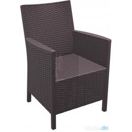 Zestaw mebli ogrodowych nie tylko do restauracji 2 x Fotel California + stolik Orlando 80 x 80 cm