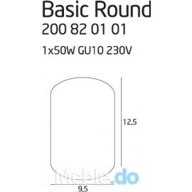 Basic Round White oprawa...