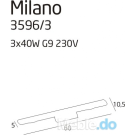 Milano 3 kinkiet