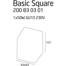Basic Square Black oprawa...