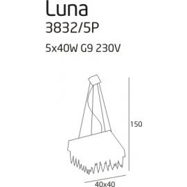 Luna lampa wisząca square