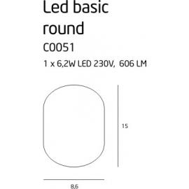 Led Basic Round biały plafon