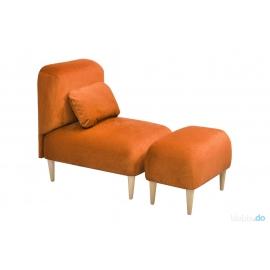 Fotel  JUPI  z podnóżkiem