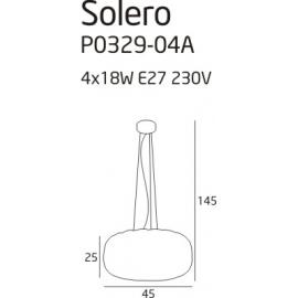 Solero 1 lampa wisząca grey