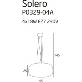 Solero 1 lampa wisząca white