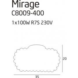 Mirage plafon mały