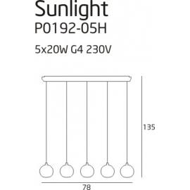 Lampa wisząca Sunlight 5