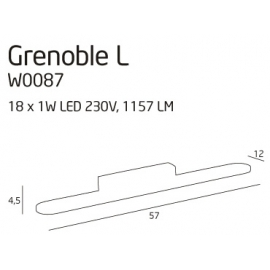 Grenoble kinkiet duża