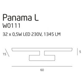 Panama duża kinkiet chrom