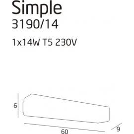 Simple 1 kinkiet 14W