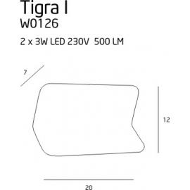 Tigra I kinkiet czarny