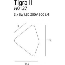 Tigra II kinkiet biały