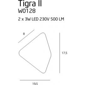 Tigra II kinkiet czarny