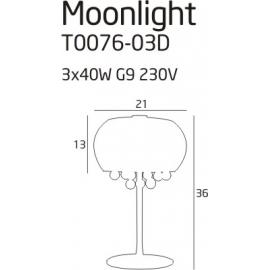 Moonlight lampa biurkowa grey