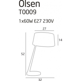 Olsen lampa biurkowa