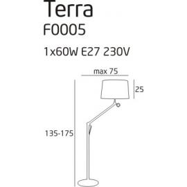 Terra lampa podłogowa mała