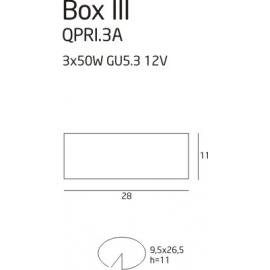 Box 3 oprawa halogenowa