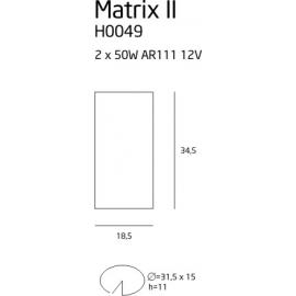 Matrix II oprawa halogenowa