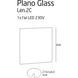 Plano glass oprawa halogenowa