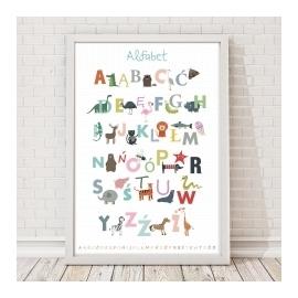 Plakat Alfabet biały