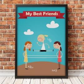 Plakat My best friends