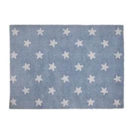 Dywan bawełniany Blue Stars White