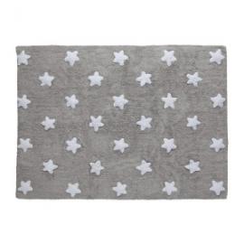 Dywan bawełniany Grey Stars White