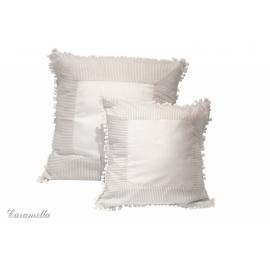 Poduszka biało-beżowa 50x50
