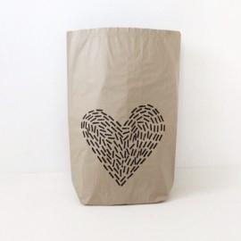 Worek papierowy Szary Love średni 70cm
