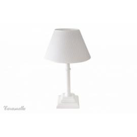 Lampka stojąca błękitna w paseczki