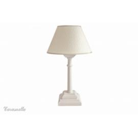Lampka stojąca beżowa w paseczki