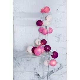 Cotton Ball Lights Sweet pink