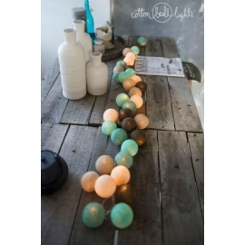 Cotton Ball Lights Peppermint Chocolate