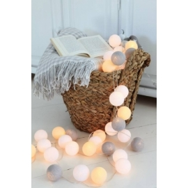 Cotton Ball Lights by Green Canoe