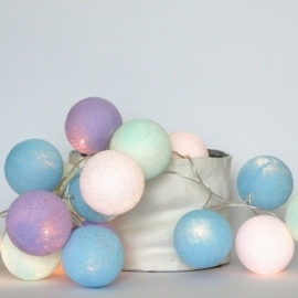 Cotton Ball Lights Baby lavender