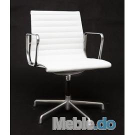 Fotel konferencyjny CH inspirowany EA108 skóra chrom