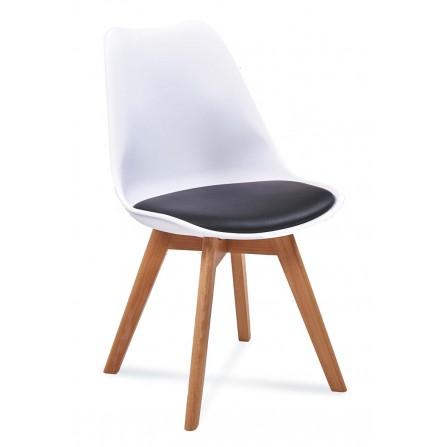 Krzesło FIORD 2 biały+czarny