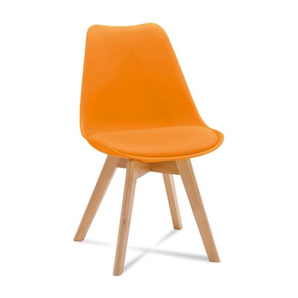 Krzesło FIORD pomarańczowy