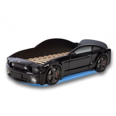 Łóżko dziecięce samochód MG 3D full mustang czarny