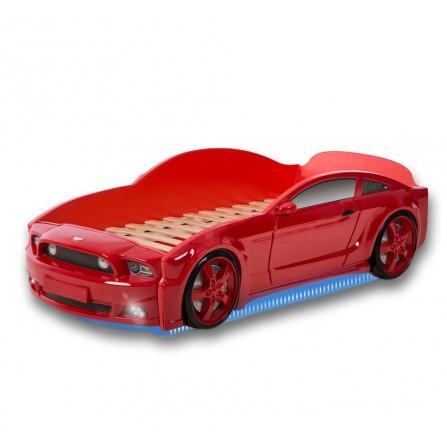 Łóżko dziecięce samochód MG 3D full mustang czerwony