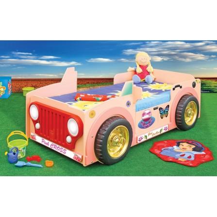 Łóżko dziecięce Jeep Pink