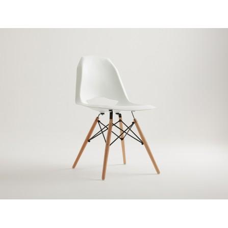 Krzesło MATCH WOOD - biały