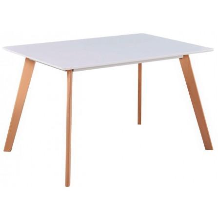 Stół Nordic 120 biały nogi dąb