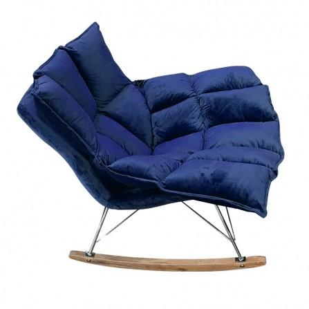 Fotel bujany SWING VELVET ciemny niebieski