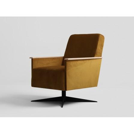 Fotel Cecyl Prl – jesienny liść